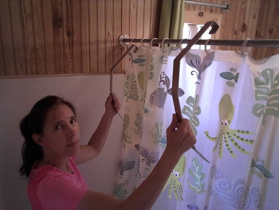 Aluminum Shower Legs Stops Curtain Cling Blow In