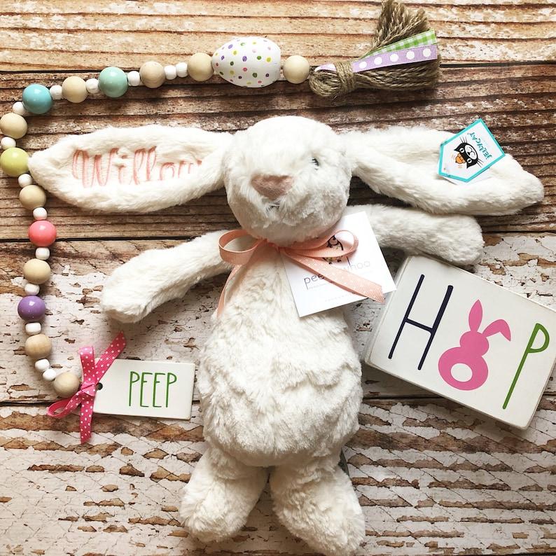MEDIUM Personalized Jellycat Bunny Rabbit Stuffed Animal image 0
