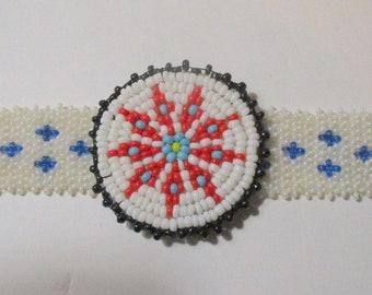 Southwestern Beaded Medallion Choker Necklace