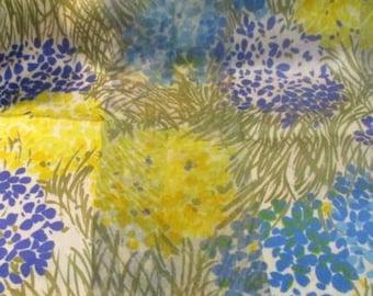 Beautiful Filmy Grassy Floral Design Scarf