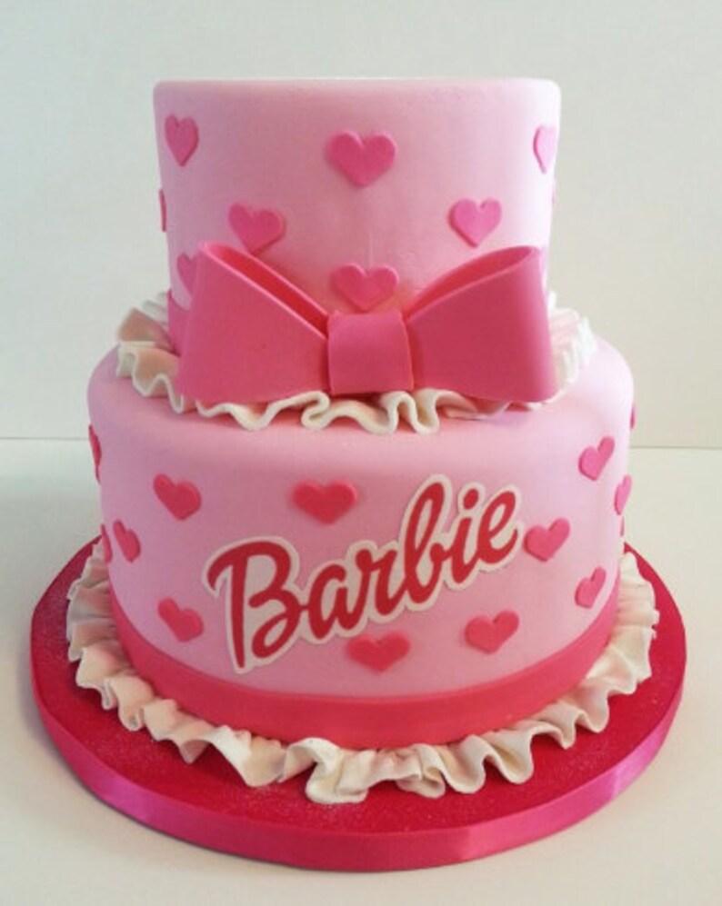 Barbie Cake Decoration Etsy