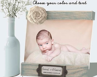 Baptism frame personalized for baby christening, Baby Baptism Frame, love and blessed frame for dedication with name date , Godchild gift