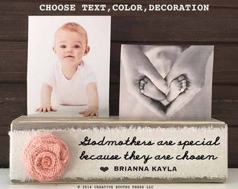 Godmother Gift from Godchild Personalized, Godparents are special because thet are chosen, godfather or godmother gift, godparents frame