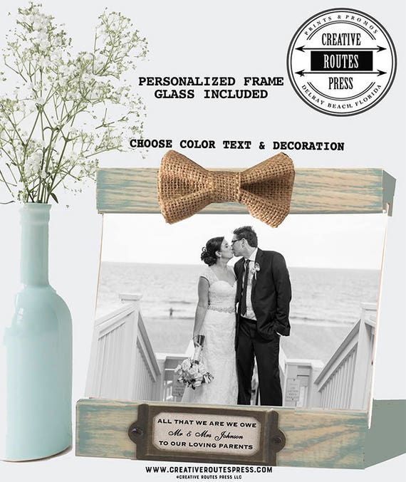 Parent Frame for bride and groom parents gift Personalized