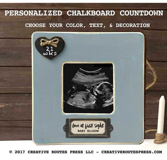Pregnancy Announcement Gift Love At First Sight Frame Etsy