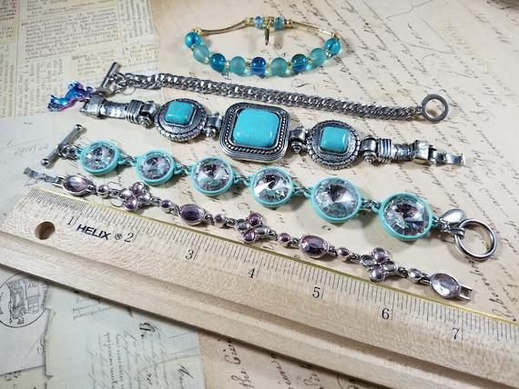 Tiny Wrist Vintage Bracelets Lot #B72; Costume Je… - image 2