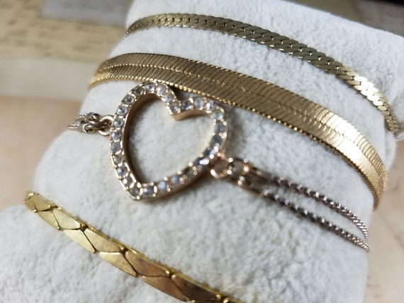 Snake Chain Vintage Bracelets Lot #B84; Costume J… - image 4