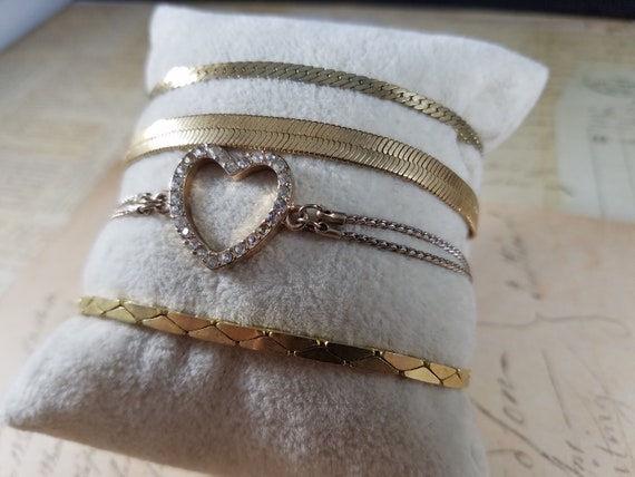 Snake Chain Vintage Bracelets Lot #B84; Costume J… - image 3