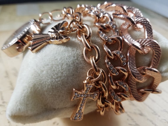 Pink Goldtone Watch Christian Vintage Bracelets L… - image 3