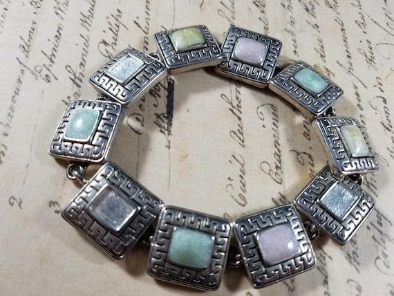 Pink and Silver Vintage Bracelets Lot #B80; Costu… - image 3