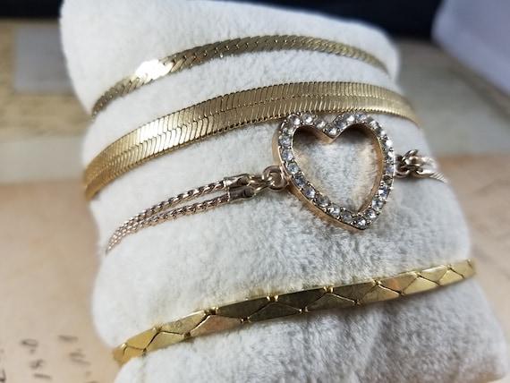 Snake Chain Vintage Bracelets Lot #B84; Costume J… - image 2