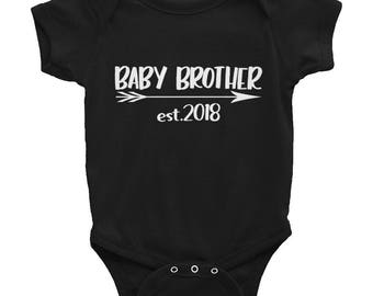 Baby Brother 2018 Onesie / Onesie for Baby Boy / Baby Boy Onesie / Baby Boy est 2018 / Baby Brother 2018 / THW311