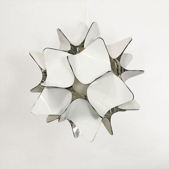 Wit plafondlamp moderne kroonluchter hanglamp etsy for Moderne binnenhuisarchitectuur