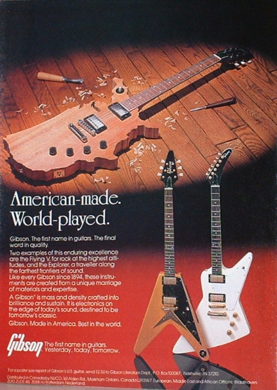 Gibson Flying V And Explorer Guitars Are American Made 1982