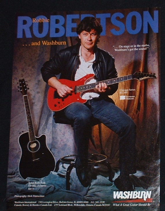 Robbie Robertson of The Band plays a Washburn KC100 electric | Etsy