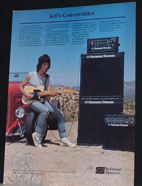 Jeff Beck spielt mit einem Seymour Duncan Cabrio | Etsy