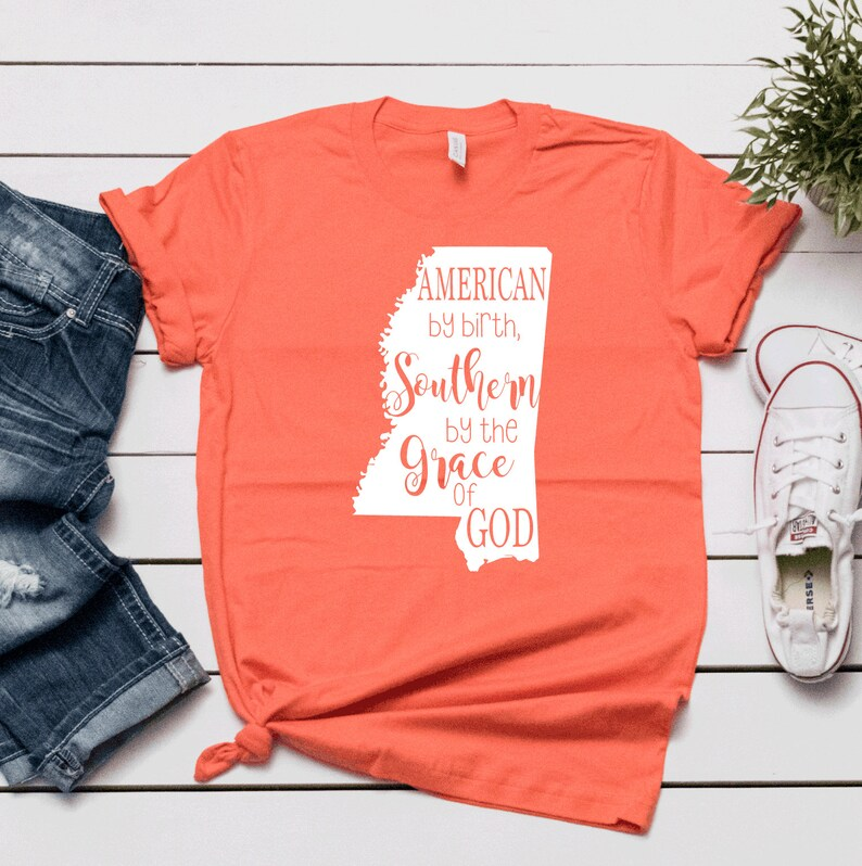 American by Birth Southern by the Grace of God SVG file image 0
