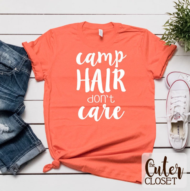 Camp Hair Don't Care  SVG file for HTV image 0