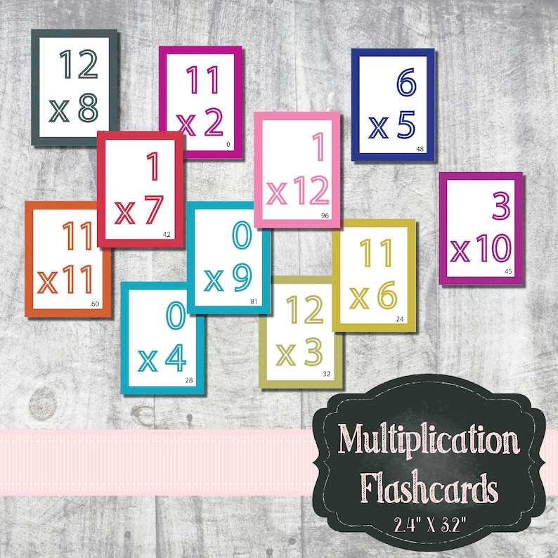 Multiplication Flash Cards image 0