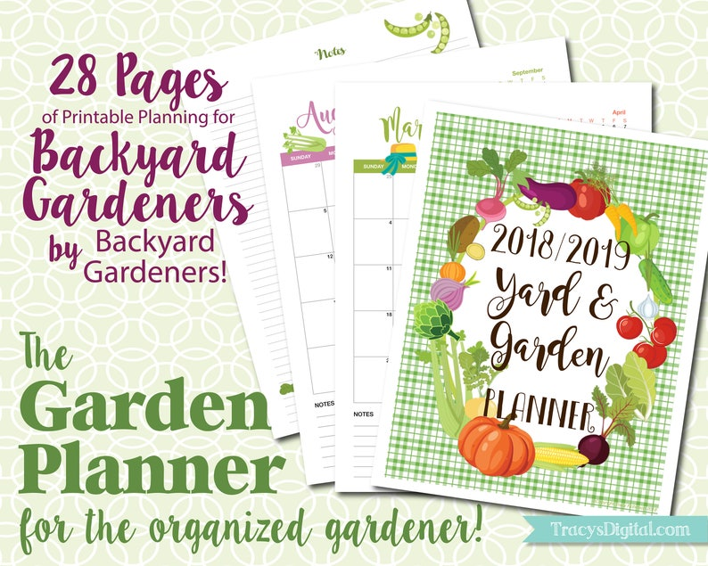 The Backyard Garden Planner  Instant Download  Printable PDF image 0