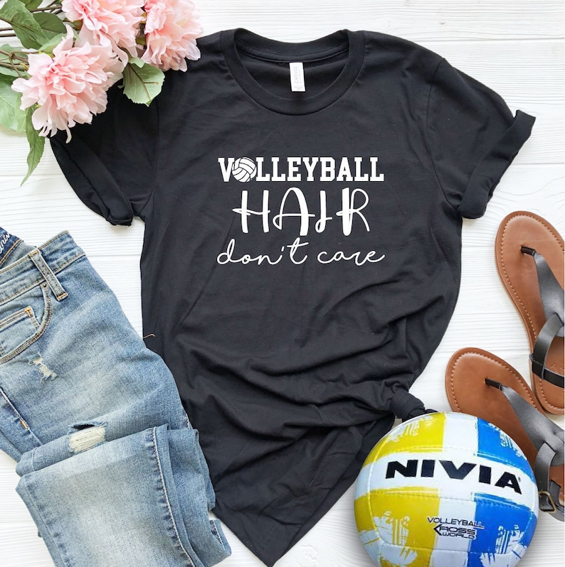Volleyball Hair Don't Care  SVG file Cricut  Silhouette image 0