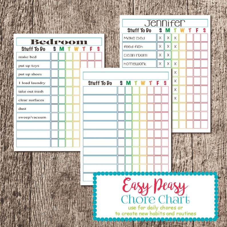 Easy Peasy Chore Chart image 0