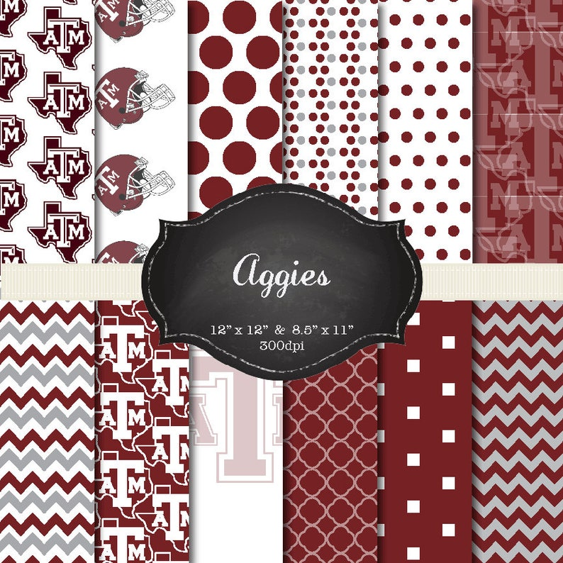 Texas A&M digital papers  12x12 and 8.5x11 300 dpi image 0