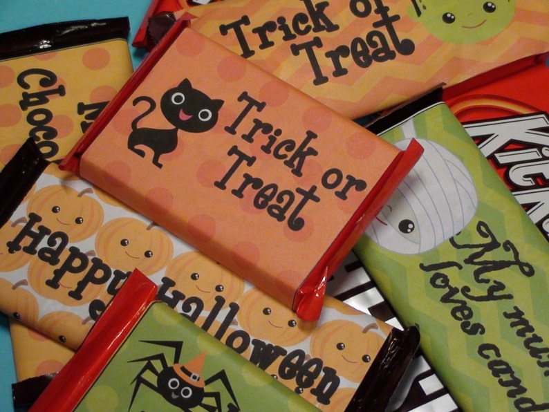 Halloween Candy Wrappers  Instant Download ON SALE 50% OFF image 0