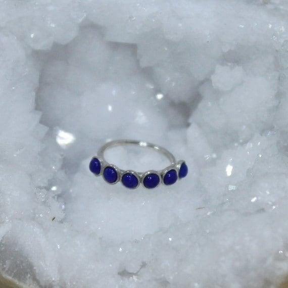 2mm Lapis Tragus Earring - Silver Nose Hoop - Nose Ring - Cartilage Earring - Tragus Ring 18g - Daith Ring - Helix Hoop - Nose Piercing