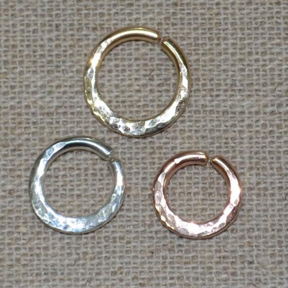 Septum Ring - Silver Nose Ring - Helix Earring - Rook Earring - Nipple Ring - Tragus Hoop - Cartilage Piercing - Daith Piercing 14 gauge