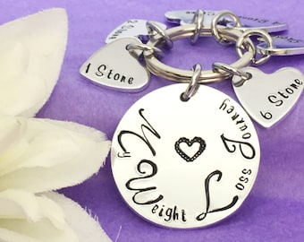 Weight Loss Keyring - Weight Loss Keychain - Slimming World - Weight Watchers - Weight Loss Journey - Juiceplus - Motivational - Inspiration