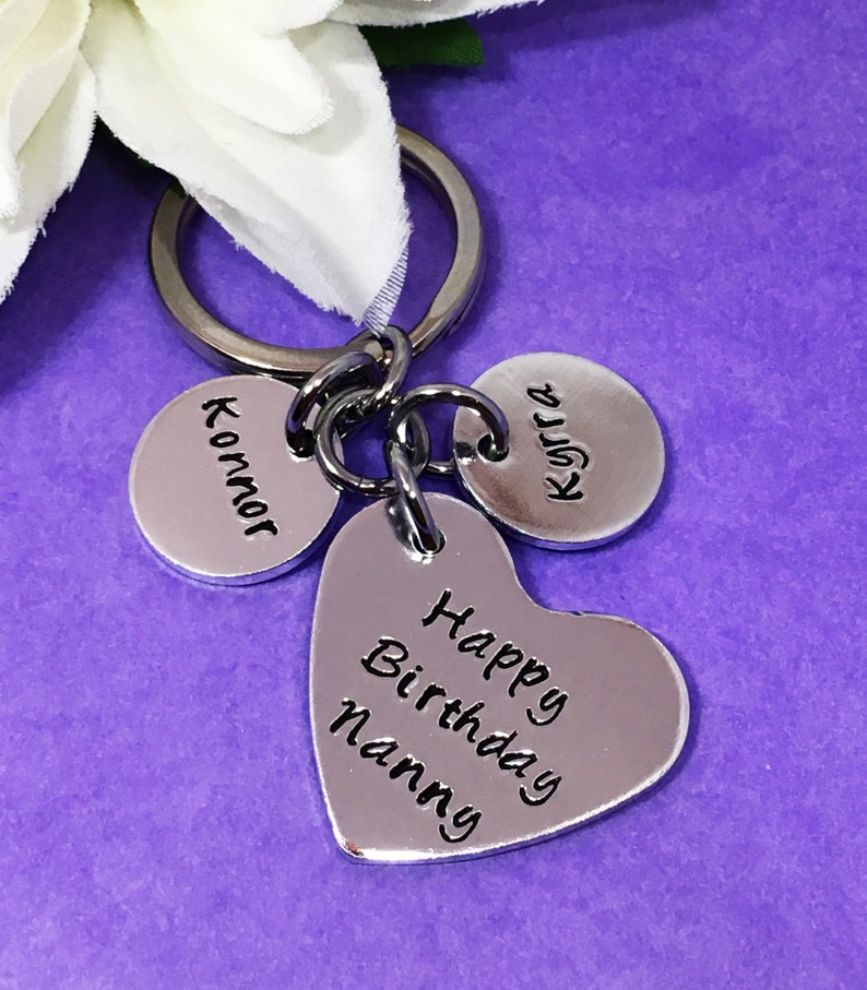 Personalised Birthday Gift Nan Hand Stamped Mum