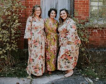 6704514195 Long bridesmaid robe