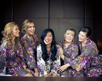 Gray purple bridesmaids robes 833e9d4a7