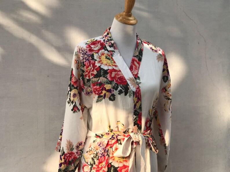 Toddler floral robe flower girl robes junior bridesmaids kid floral robes bridal floral robes Bridesmaid robes cotton floral robes