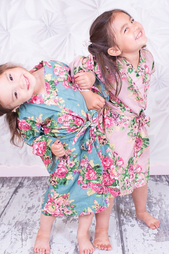 Cute robes for kids in assorted colors toddler size flower   Etsy