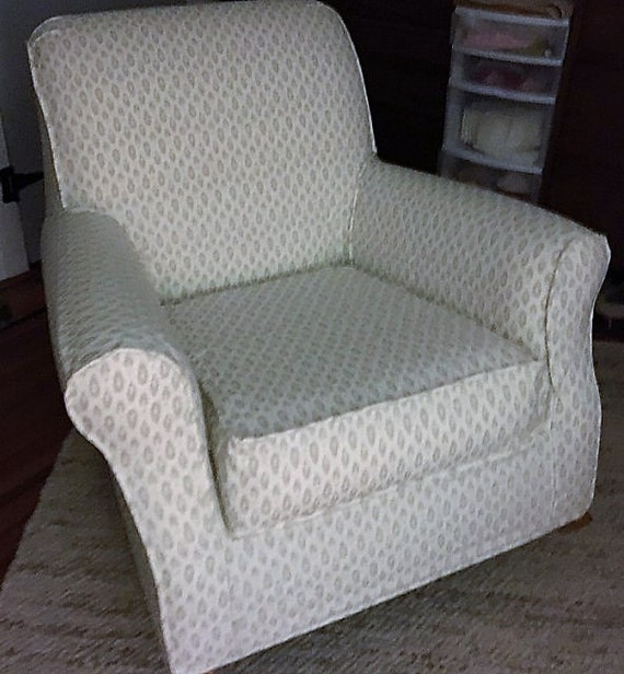 Peachy Custom Slipcovers For Your Pottery Barn Lullaby Rocker Glider Chair From Your Own Fabric Gmtry Best Dining Table And Chair Ideas Images Gmtryco
