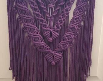 Purple Macrame Wall Hanging