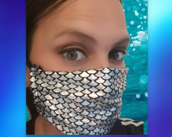 Mermaid Face Mask! Child & Adult Sizes Available!! Choose your Favorite Color!