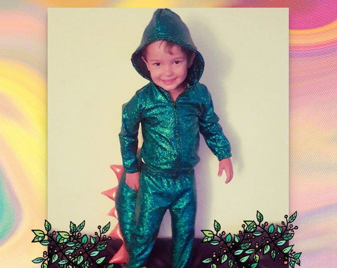 Dino Hooded Jacket and Pants and Tail !  Choose Favorite Colors!!