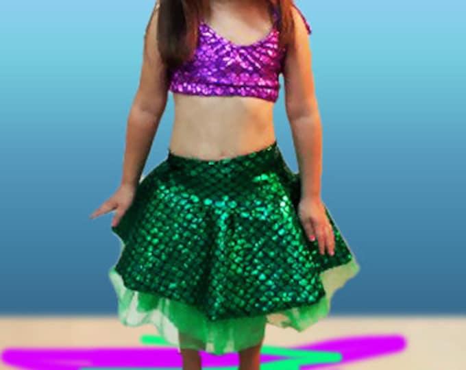 Mermaid Ruffle Skirt with Tutu! Add on Top!!
