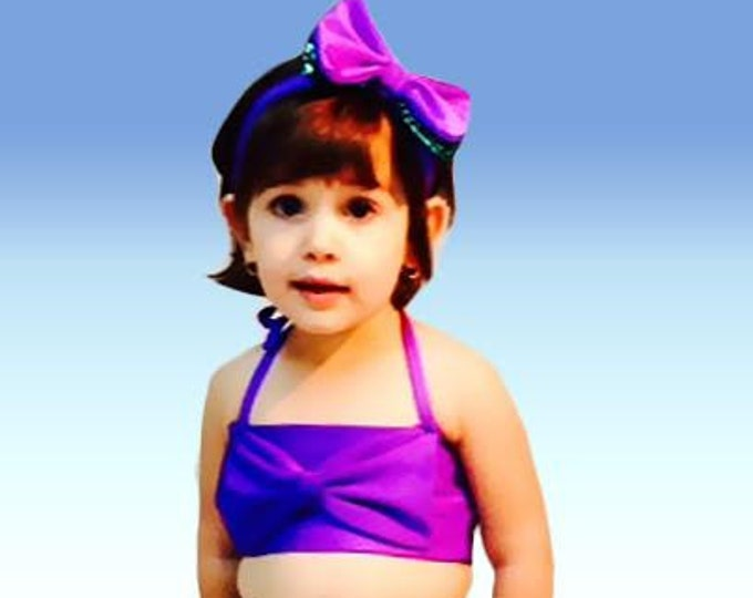 Hi Waist Mermaid Bikini Set with Headband!