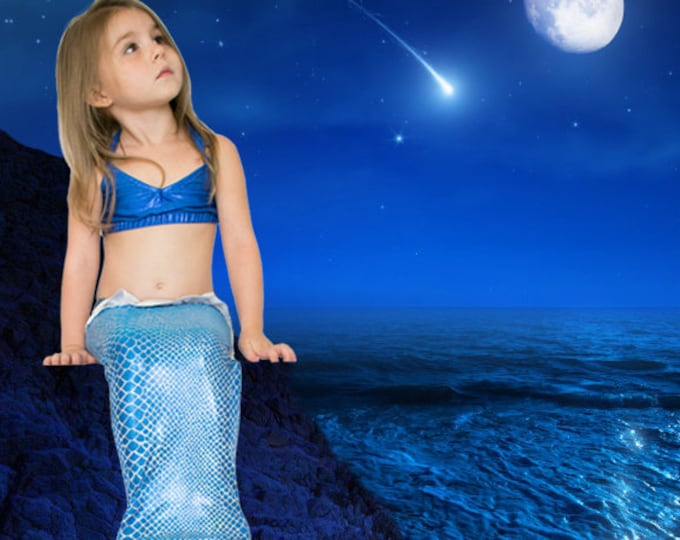 Mermaid Tail  /Swimmable & Walkable  Tail with Invisible Zipper Bottom!Add Monofin/Add Bikini