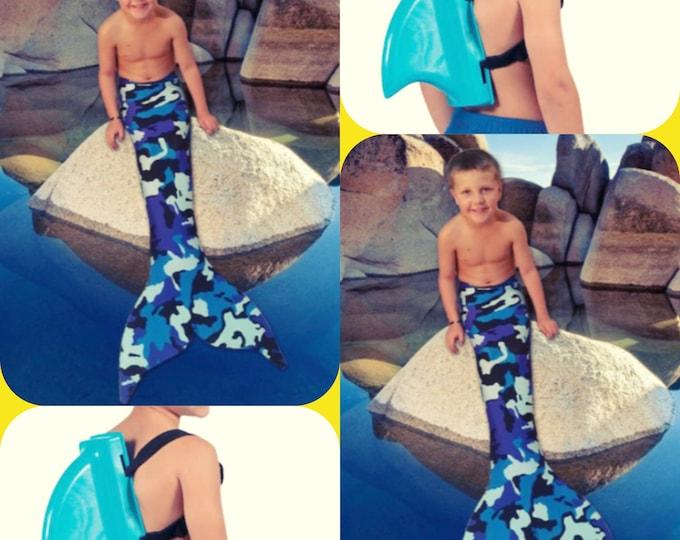 Heidi's Custom Listing ! (1) Size 8 Tail with Monofin and Shark Swim Fin !