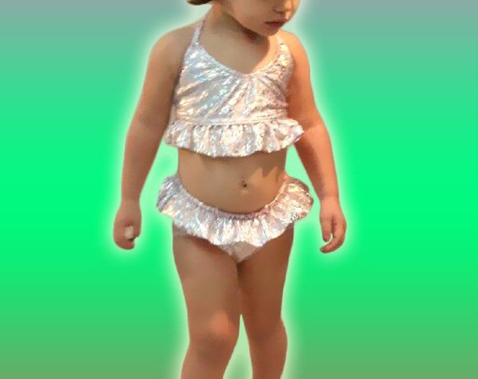 Mermaid Bikini Set with Ruffles!