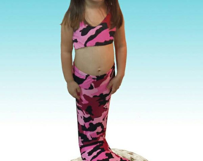Swimmable/Walkable Mermaid Tails with Invisible Zipper Bottom! Add Monofin /Add Bikini!!