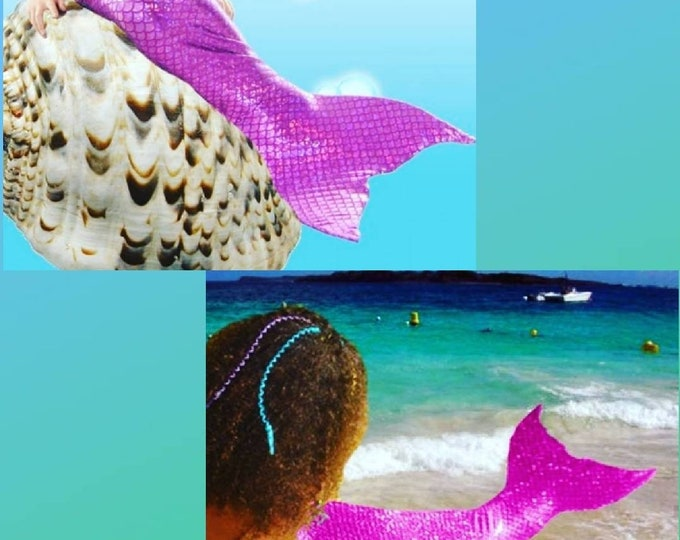 Shelby's Custom Listing! 2 Tails with Monofins and Bikini Sets! Purple size 14 / Hot Pink size 6