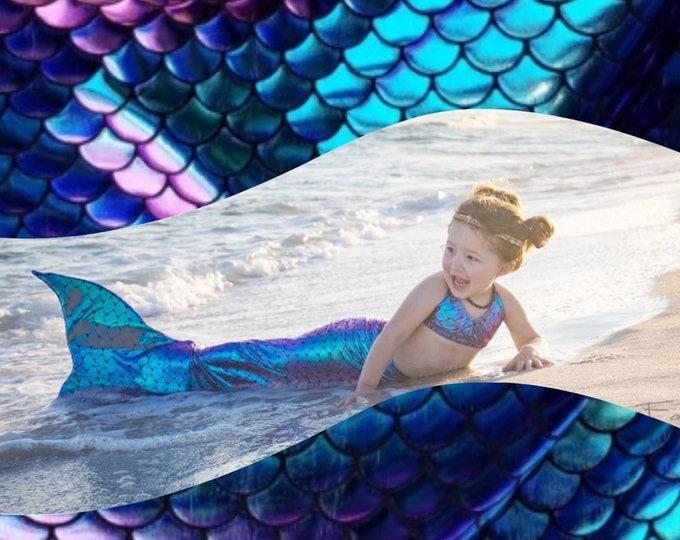 Walkable Mermaid Tail with Invisible Zipper Bottom! Add Monofin /Add Bikini
