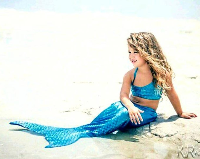 Walkable/Swimmable Mermaid Tails with Invisible Zipper Bottom !Add Monofin/Add Bikini *** FAST SHIPPING!!