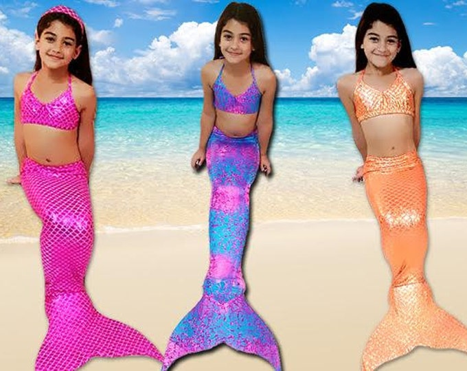 Walkable/Swimmable Mermaid Tail with Invisible Zipper Bottom !Monofin Included in this Listing/Add Bikini *** FAST SHIPPING!!!